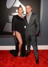 Jennifer Lopez & Casper Smart on the red carpet at the 2013 Grammy Awards