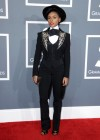 Janelle Monae on the red carpet at the 2013 Grammy Awards