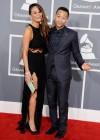Chrissy Teigen & John Legend on the red carpet at the 2013 Grammy Awards