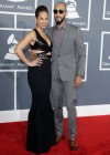 Alicia Keys & Swizz Beatz on the red carpet at the 2013 Grammy Awards
