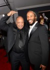 Quincy Jones & Ziggy Marley on the red carpet at the 2013 Grammy Awards