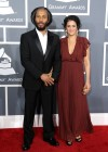 Ziggy Marley and Orly Agai on the red carpet at the 2013 Grammy Awards
