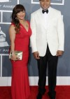 LL Cool J and his wife Simone on the red carpet at the 2013 Grammy Awards