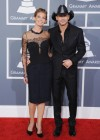 Faith Hill & Tim McGraw on the red carpet at the 2013 Grammy Awards