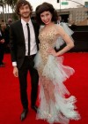 Musicians/songwriters Gotye and Kimbra on the red carpet at the 2013 Grammy Awards