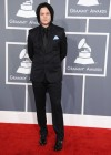 Jack White on the red carpet at the 2013 Grammy Awards