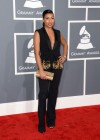 Melanie Fiona on the red carpet at the 2013 Grammy Awards