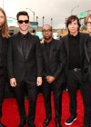 Adam Levine & Maroon 5 on the red carpet at the 2013 Grammy Awards