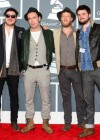Mumford & Sons on the red carpet at the 2013 Grammy Awards