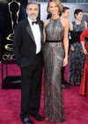 George Clooney and Stacy Keibler: Oscars 2013 red carpet