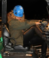 Beyonce (on the set of her Mrs. Carter Show stage build?)
