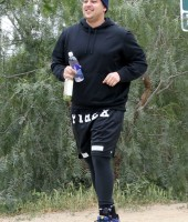 Rob Kardashian goes for a run with the Game