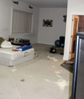Robert Swift's squalid foreclosed home: one of the bedrooms