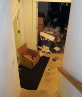 Robert Swift's squalid foreclosed home: trash everywhere