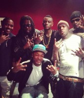 Soulja Boy with Birdman, Mack Maine and others in the YMCMB squad
