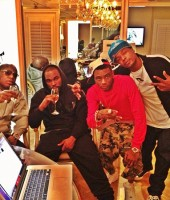 Soulja Boy with Birdman and DJ Stevie J in Miami