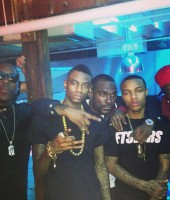 Soulja Boy with Ace Hood, Bow Wow and DJ Stevie J in Miami