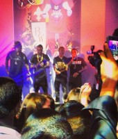 Soulja Boy on stage with Bow Wow and Ace Hood in Miami