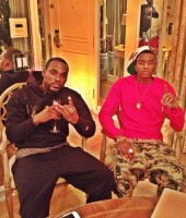 Soulja Boy with YMCMB DJ Stevie J in Miami