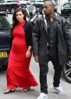 Kim Kardashian & Kanye West shopping in Paris (Apr 30 2013)