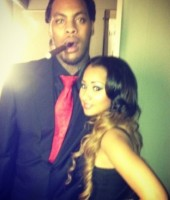 Waka Flocka Flame and his fiancee Tammy Rivera