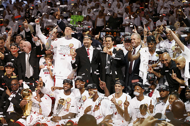 Gabrielle Union And Dwyane Wade Championship 2013 NBA Finals 2013: Miami...