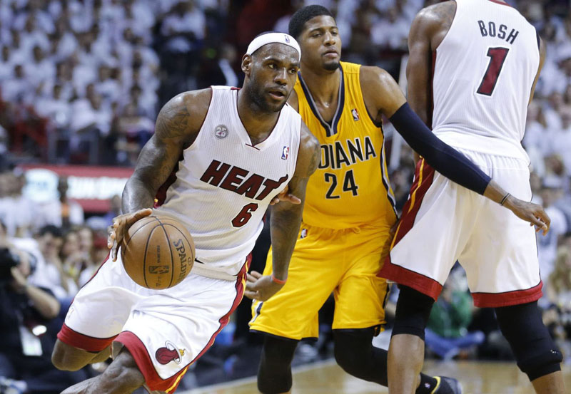 NBA Playoffs 2013: Miami Heat Defeat Pacers 99-76 in Game ...