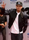 Chris Brown on the red carpet of the 2013 BET Awards