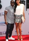 Kevin Hart and his girlfriend Eniko Parrish on the red carpet of the 2013 BET Awards