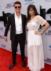 Robin Thicke and Paula Patton on the red carpet of the 2013 BET Awards