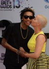 Wiz Khalifa and Amber Rose on the red carpet of the 2013 BET Awards
