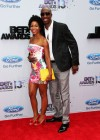 JB Smoove and his wife Shahidah Omar on the red carpet of the 2013 BET Awards