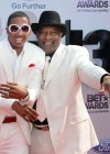 Nick Cannon and his grandfather James Cannon on the red carpet of the 2013 BET Awards