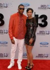 Lecrae and his wife Darragh Moore on the red carpet of the 2013 BET Awards