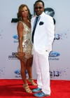 Bobby Brown and his wife Alicia Etheridge on the red carpet of the 2013 BET Awards