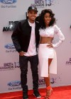 Chris Brown and his new artist Sevyn Streeter on the red carpet of the 2013 BET Awards