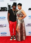 Ne-Yo and his new artist Ravaugh on the red carpet of the 2013 BET Awards