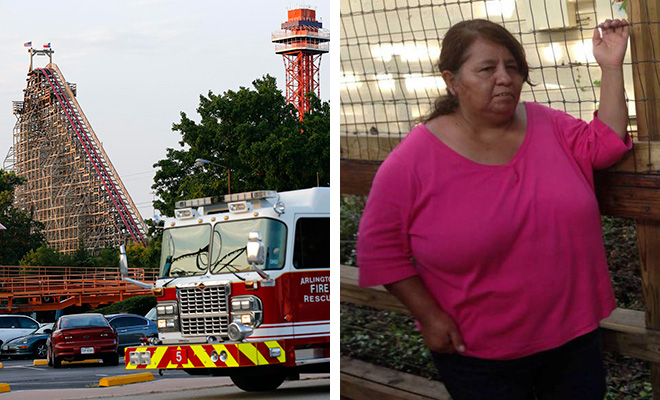woman falls to her death from roller coaster at six flags
