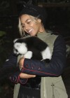 Beyoncé holding animals at Blue Ivy's 2nd Birthday Party