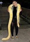 Beyoncé holding a snake at Blue Ivy's 2nd Birthday Party