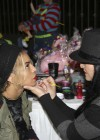 Beyoncé getting her face painted at Blue Ivy's 2nd Birthday Party