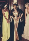 Tina Knowles and daughters Beyoncé & Solange at her 60th Birthday Party Masquerade Ball