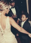 Beyoncé and her nephew Julez (Solange's son) at Tina Knowles's 60th Birthday Party Masquerade Ball