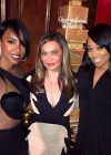 Kelly Rowland and Monica with Tina Knowles at her 60th Birthday Party Masquerade Ball