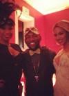 Jennifer Hudson and Beyoncé at Tina Knowles's 60th Birthday Party Masquerade Ball