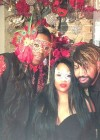 Beyoncé's cousin Angie, her assistant Ty Hunter and Big Freedia at Tina Knowles's 60th Birthday Party Masquerade Ball