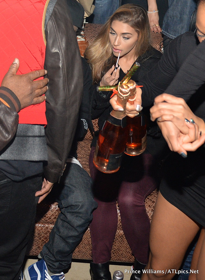 Justin Bieber's rumored girlfriend Chantel Jeffries at Vanquish Nightclub in Atlanta