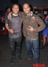 T.I. and his son Messiah Harris at Messiah's 14th birthday bowling party