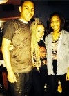 Messiah Harris with Tiny and his girlfriend at his 14th birthday bowling party
