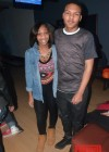Messiah Harris with his girlfriend at his 14th birthday bowling party